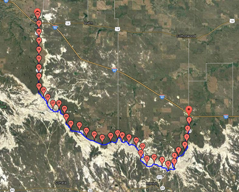 40 Mile Course